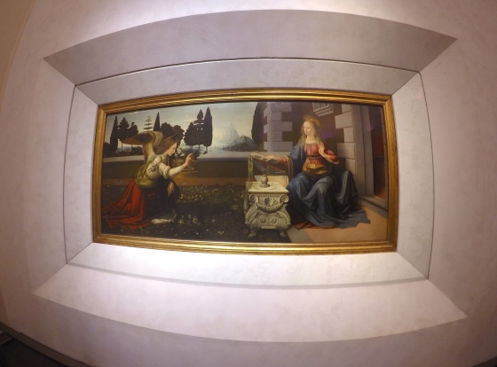 Annunciation, from Leonardo da Vinci