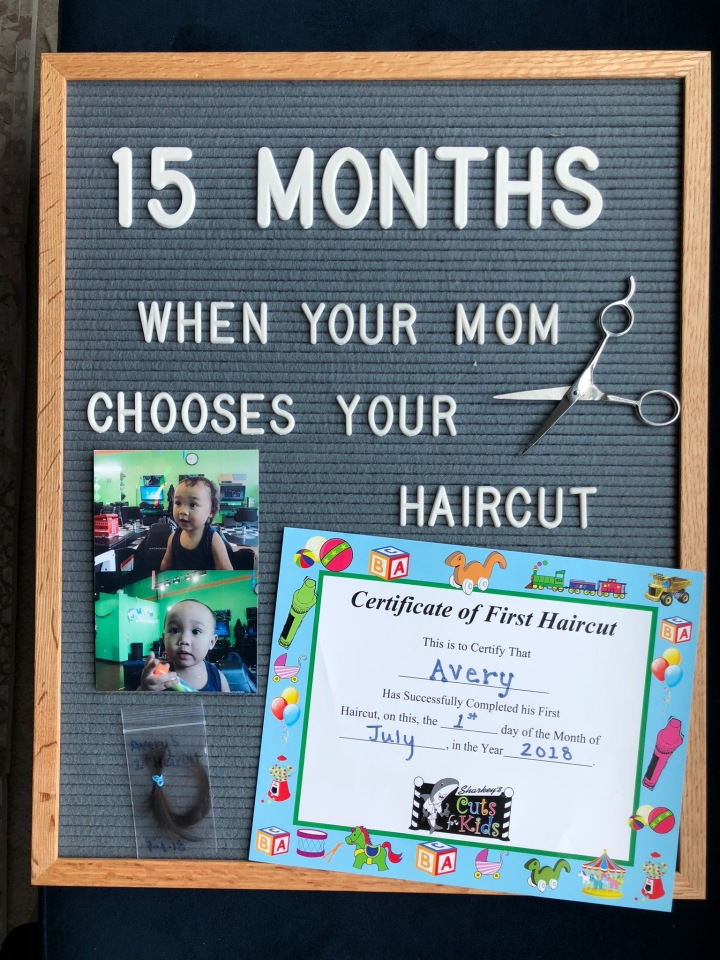 OH BABY! AVERY'S FIRST HAIRCUT