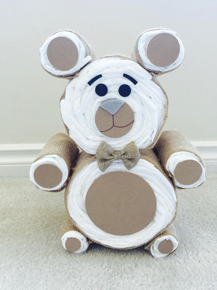 DIY : BEAR DIAPER CAKE